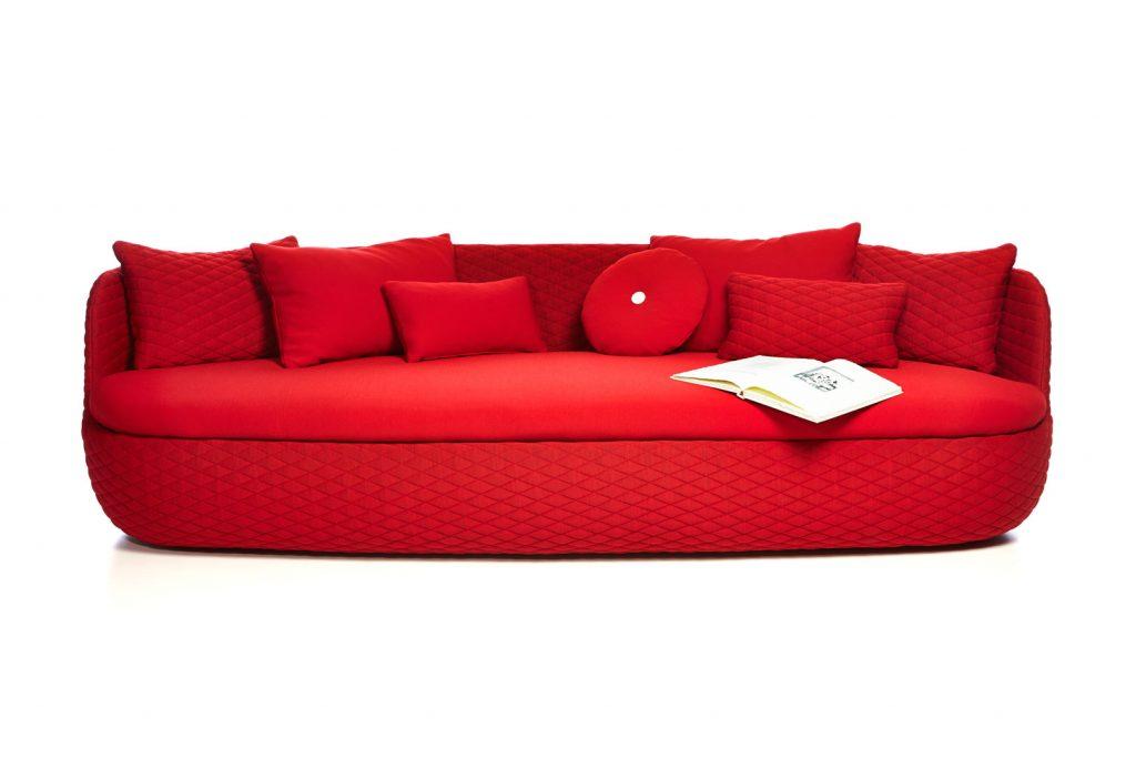 Rotes Sofa von Moooi